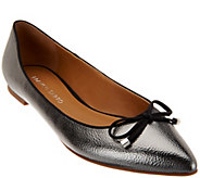 As Is Franco Sarto Pointed Toe Flats with Bow Detail - Avice - A278653