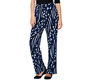 Bob Mackies Petite Printed Pull-On Knit Pants - A279153