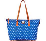 Dooney & Bourke MLB Royals Zip Top Shopper - A280053