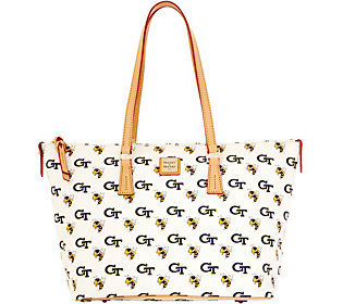 Dooney & Bourke NCAA Georgia Tech University Zip Top Shopper
