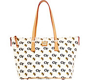 Dooney & Bourke NCAA Georgia Tech University Zip Top Shopper - A283253