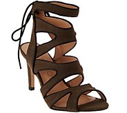 As Is Sole Society Canvas Cut-out Sandals - Stella - A284453
