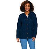 Kilronan Merino Wool Empire Waist Long Sleeve Cardigan - A291053