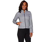 As Is Liz Claiborne New York Herringbone Zip Front Jacket - A291253