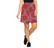 Denim & Co. Active Paisley Print Skort - A291653