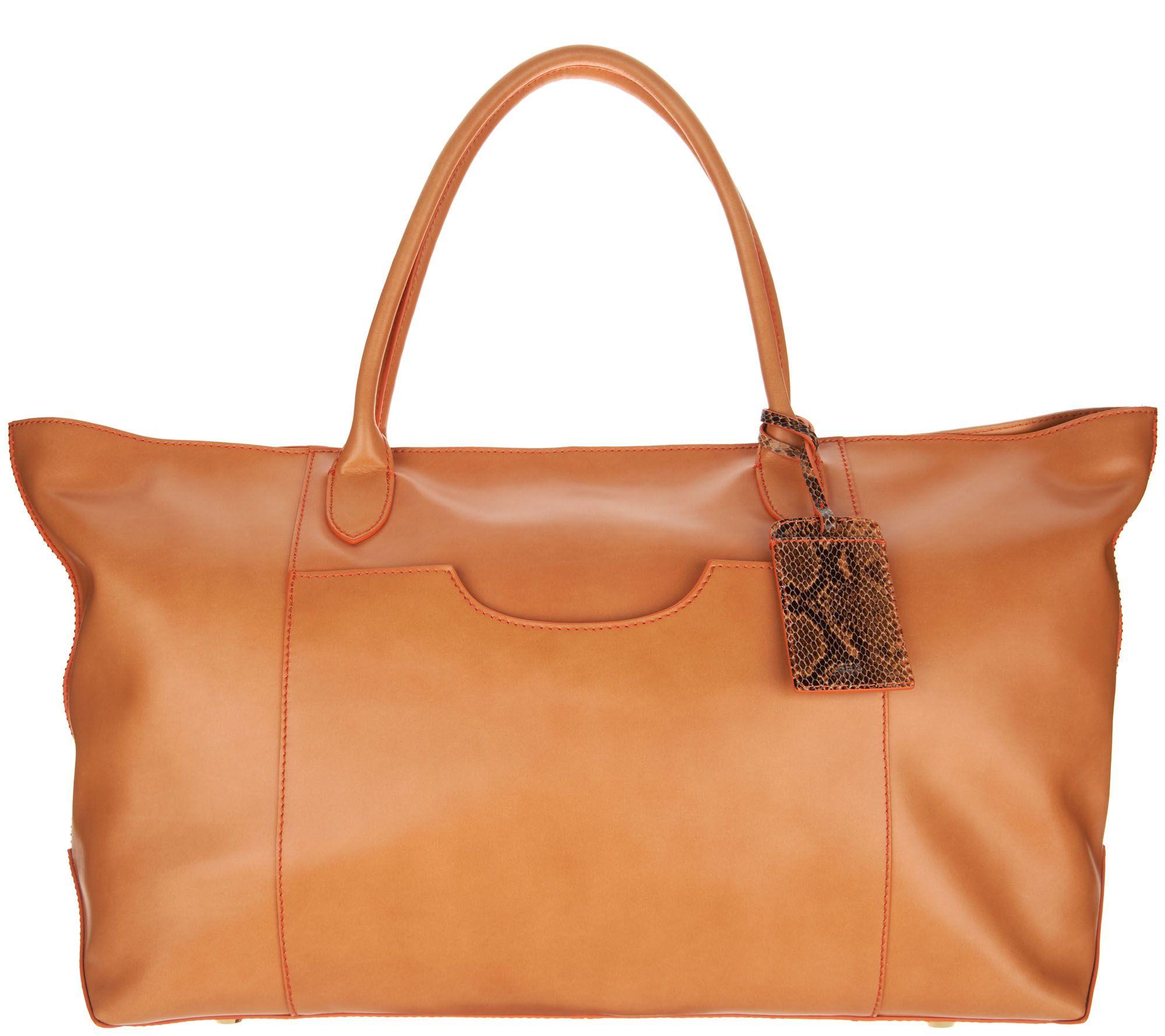 Silver leather tote bag uk - G I L I Italian Leather Oversized Tote Bag A293053