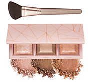 bareMinerals Crystalline Glow Bronzer & Highlighter Palette w Brush - A303653