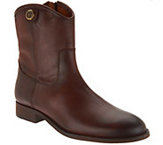 Frye Leather Side Zip Ankle Boots - Melissa Button Short 2 - A305253