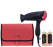 Caj Beauty Travel Dryer with Bag, & (2) 2oz. Hairsprays - A309053