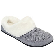 Daniel Green Cable Knit Clog Slippers - Gerdy - A338453