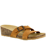 Tuscany by Easy Street Leather & Cork Slide Sandals - Sandalo - A339053