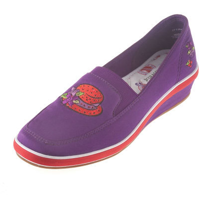 Red Hat Society Grasshoppers by Keds Wedged Heel Slip-Ons