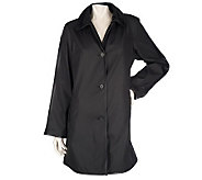 Dennis Basso Reversible Water Resistant Button Front Coat - A86553