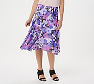Bob Mackies Fully Lined Floral Print Skirt - A202154