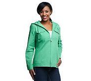 Denim & Co. Long Sleeve Windbreaker Jacket w/Hood - A224054
