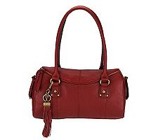 Tignanello Pebble Leather Zip Top Satchel
