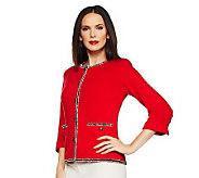 Joan Rivers Parisian Classic Soft Knit Jacket - A230454