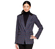 Linea by Louis DellOlio One-Button Blazer with Trim Detail - A237554