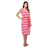 Liz Claiborne New York Stripe Print Knit Dress - A255154