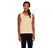 Joan Rivers Sequin Embellished Knit Tank - A257754