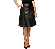 Dennis Basso Faux Leather Gored Skirt - A258054