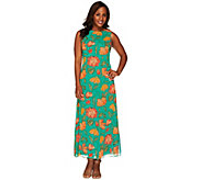Liz Claiborne New York Petite Floral Print Maxi Dress - A263454