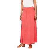 Susan Graver Weekend Cotton Modal Gored Maxi Skirt - A265854