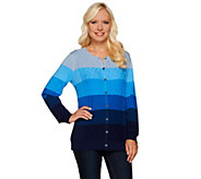 Liz Claiborne New York Ombre Cable Knit Cardigan - A267254