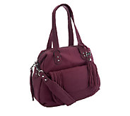 As Is Aimee Kestenberg Crystal Leather Large Satchel - A267354