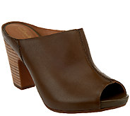 Clarks Artisan Leather Block Heel Mules - Okena Chic - A268854