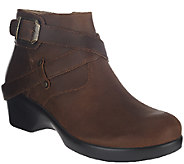 Alegria Leather Ankle Boots w/ Strap Details - Eva - A269854
