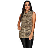 G.I.L.I. Funnel Neck Sleeveless Tunic Sweater - A270454
