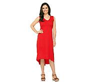 As Is Susan Graver Weekend Cotton Modal Dress with Hi-Low Hem - A270854