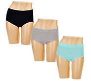 Breezies Set of 3 Seamless Full Brief Panties - A272954