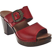 Dansko Leather Double Strap Slide Sandals - Ramona - A274354