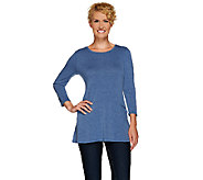 As Is LOGO by Lori Goldstein Heathered Knit Top with Front Seam Pockets - A274654
