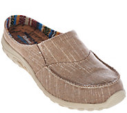 Skechers Relaxed Fit Linen Slip-on Mules - Rebel Vibes - A275954
