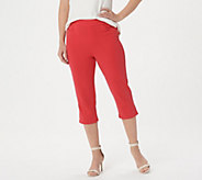 Bob Mackies Pull-On Knit Crop Pants with Pockets - A276854