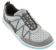 As Is Clarks Outdoor Leather Bungee Lace-up Sneakers - Aria Flyer - A287554