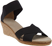 Charleston Shoe Co. Stretch Wedge Sandals - Cannon - A287954