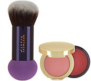 Westmore Double_Feature Powder-Over- Cream_Blush w/ Brush - A290454