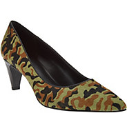 As Is LOGO by Lori Goldstein Pointed Toe Leather Pumps - A290854