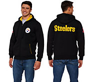As Is NFL Team Color Sherpa Lined Zip Up Hoodie - A291254