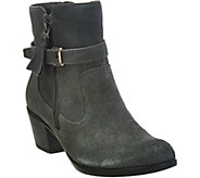 As Is Earth Origins Suede Water Repellent Ankle Boots - Tori - A292554