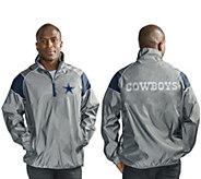 NFL Dallas Quarter Zip Lightweight Pullover Jacket - A296154