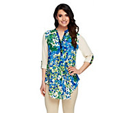 As Is Kelly by Clinton Kelly Floral Hi-Low Hem Blouse - A298354