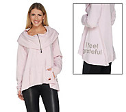 Peace Love World Selma Zip Front Long Sleeve Top - A301554
