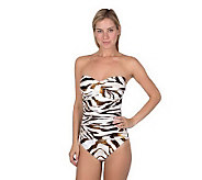 Simply Sole Safari Sari Bra Bandeau One-Piece Swimsuit - A327254