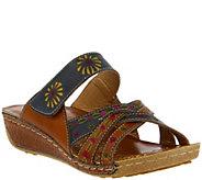 Spring Step LArtiste Leather Slide Sandals - Kaxanne - A356554