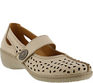Spring Step Perforated Leather Mary Janes - Lorona - A356854